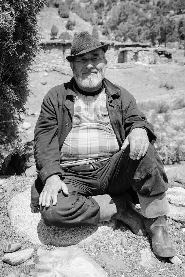 Local man near Sarytag, Fan Mountains