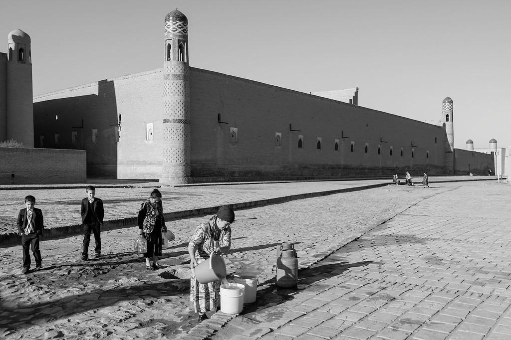 Drawing Water form the Well in front of the Mohammed Rakhim Khan Medressa, Khiva