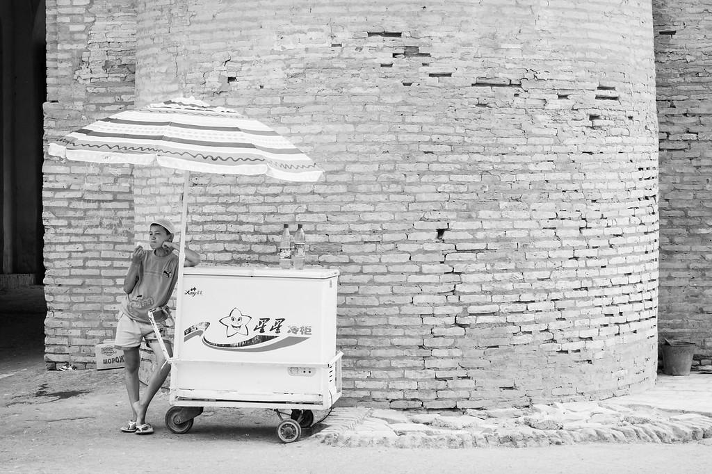Ice-cream Seller, Bogcha Darvoza (North Gate), Khiva