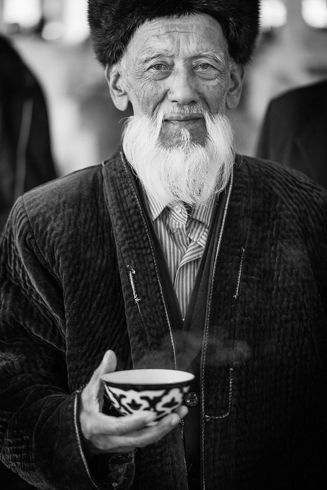 Man with Tea, Siob Bazaar, Samarkand