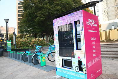 Knit Trees & relay Bike Share - Downtown ATL