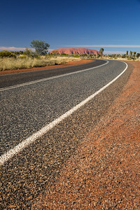 Heading for the Big Red Rock, Uluru, Australia