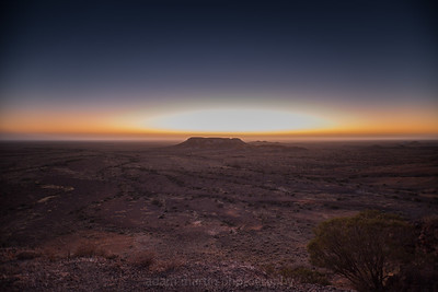 The Breakaways near Coober Pedy at Sunrise, South Australia
