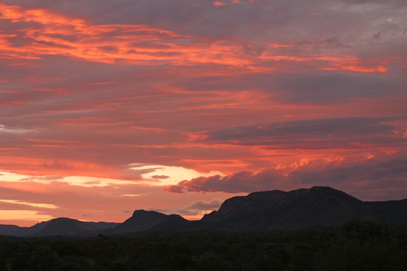 Macdonnell Ranges Sunset