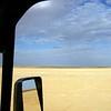 Driving the salt lake. Simpson Desert