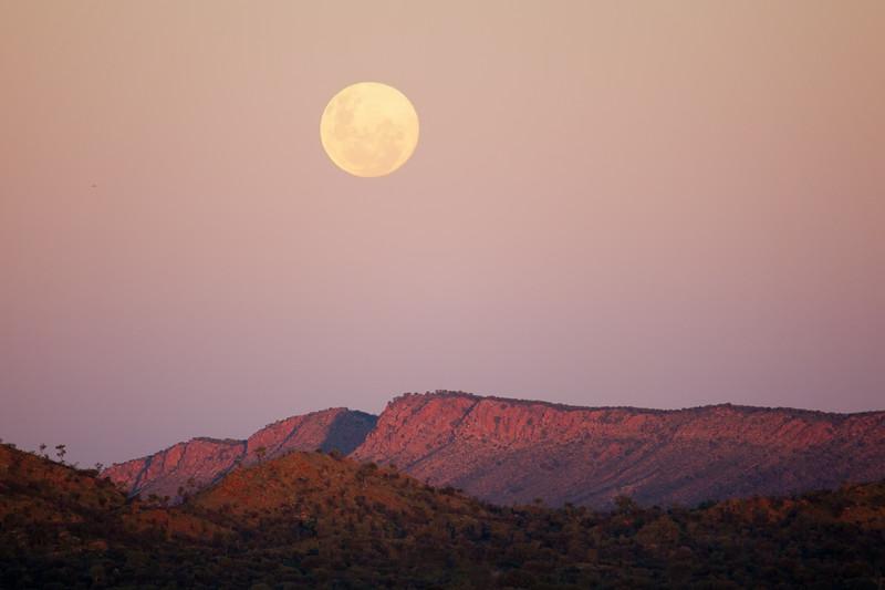 Full moon over the range