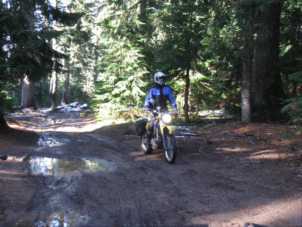 Riding the trail