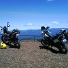 Two happy bikes & bikers at 6,700 ft.