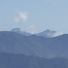 I think this is the top of Cone Peak peeking up over some nearby peaks...