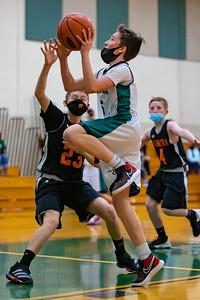 Middle School Basketball   Central Dauphin vs. Palmyra   February 17, 2021