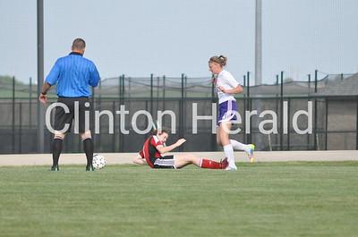 Central DeWitt girls regional soccer, first half (6-2-15)