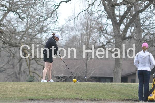 Central DeWitt vs. Clinton girls golf (4-6-15)