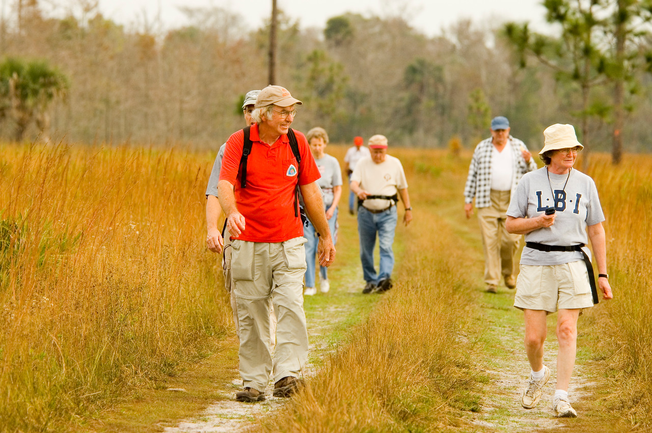 Florida Trail hikers<br /> location: Forever Florida<br /> PHOTO CREDIT: M. Timothy O'Keefe / Florida Trail Association