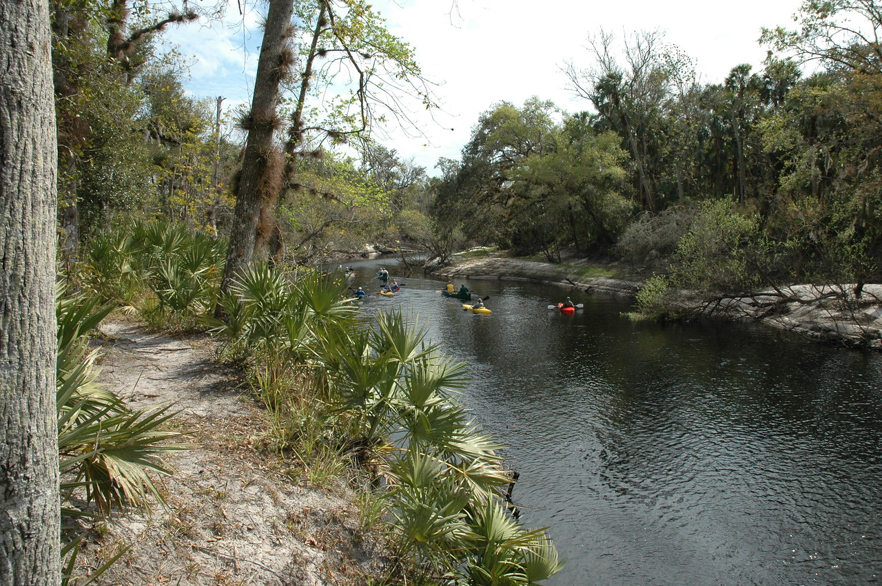 Kayakers on the Econlockhatchee<br /> PHOTO CREDIT: Willis Crawford/ Florida Trail Association