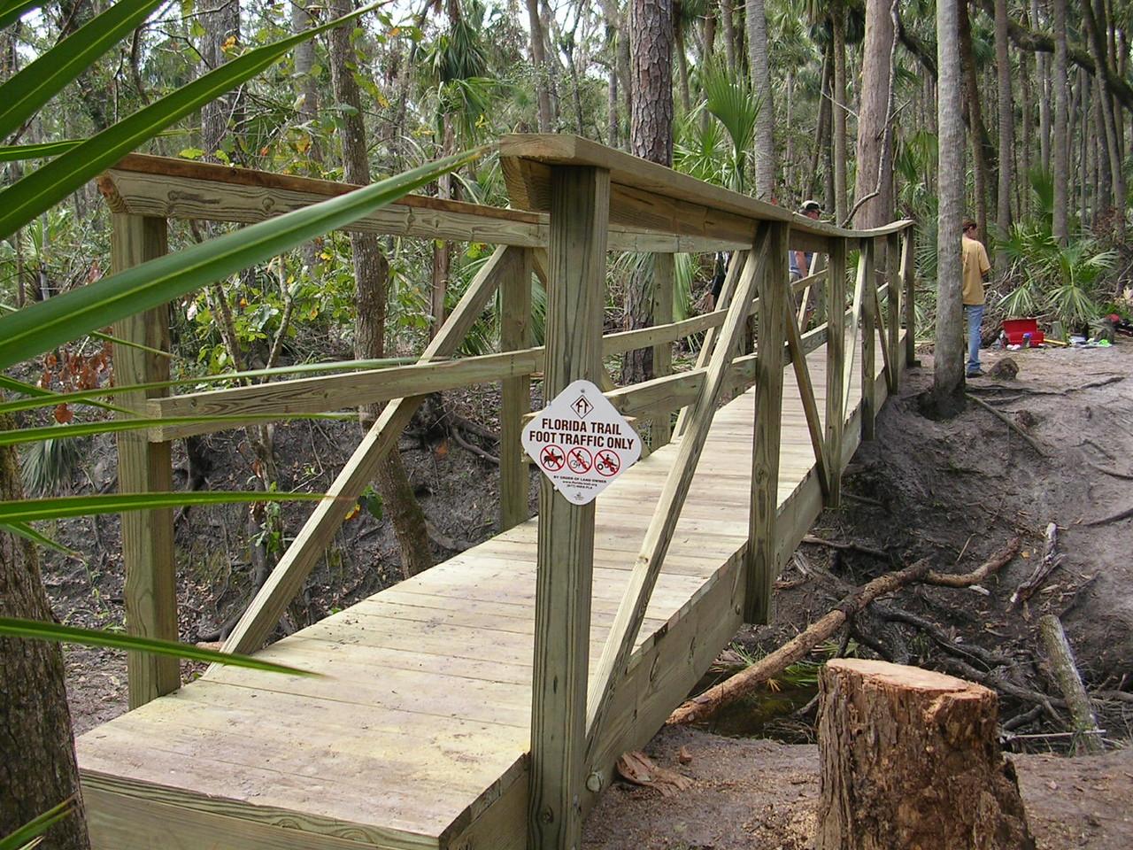 F-Troop's second bridge<br /> PHOTO CREDIT: Roger Werner / Florida Trail Association