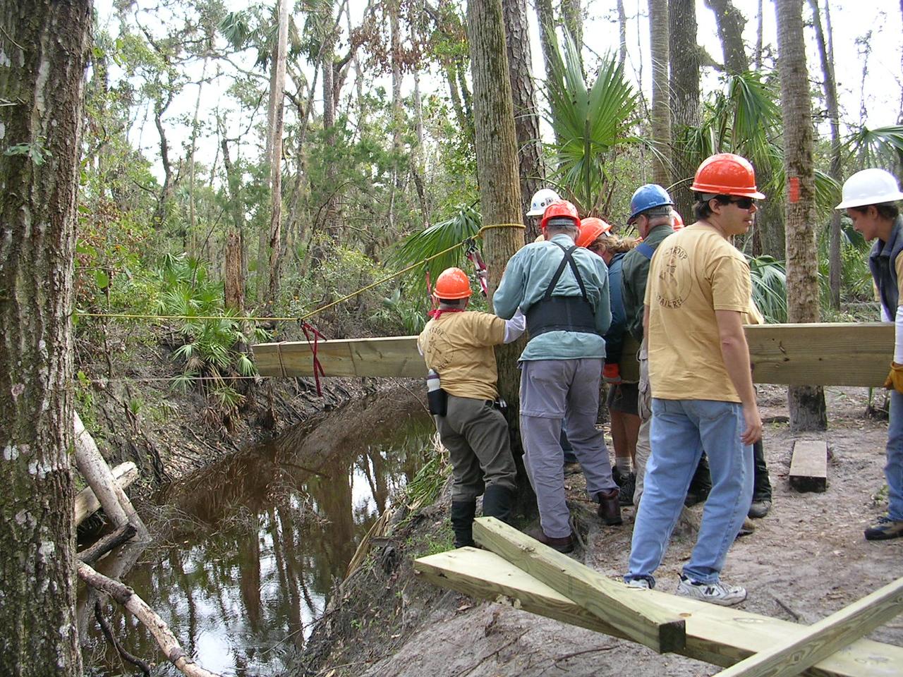 F-Troop at work<br /> PHOTO CREDIT: Roger Werner / Florida Trail Association