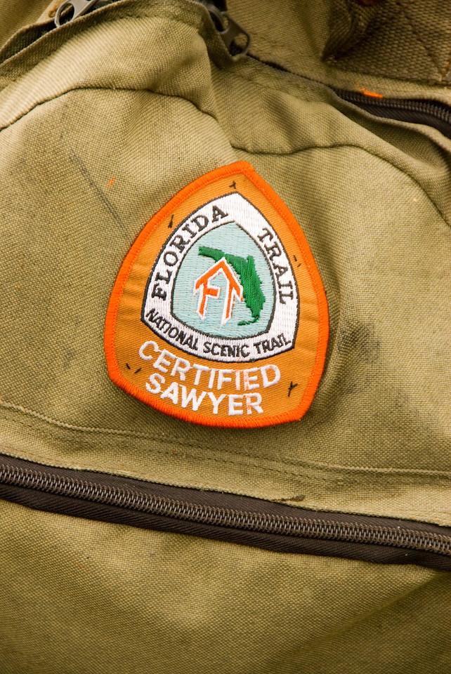 Volunteer patch<br /> PHOTO CREDIT: M. Timothy O'Keefe / Florida Trail Association