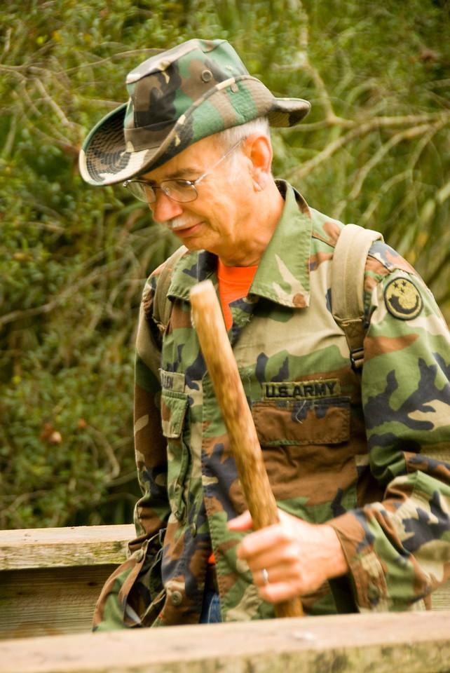 Hiker at Orlando Wetlands Park<br /> PHOTO CREDIT: M. Timothy O'Keefe / Florida Trail Association