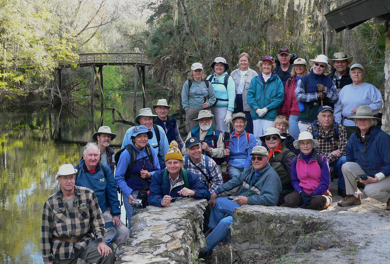 Group of hikers at Hillsborough River State Park <br /> PHOTO CREDIT: Diane Dammiller / Florida Trail Association