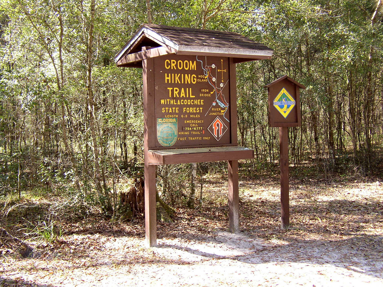 Trailhead for the Croom section of the Florida Trail<br /> location: Ridge Manor<br /> photo credit: FTA / Deb Blick