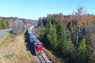Central Maine & Quebec #710, Sutton, Quebec, October 12 2017.