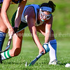 WINTHROP, ME - OCTOBER 6: Winthrop's Maddie Perkins hits the ball during a field hockey game Wednesday October 6, 2021 on Kelsey Ann Stoneton Memorial Field in Winthrop. (Staff photo by Joe Phelan/Staff Photographer)