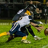 READFIELD, ME - OCTOBER 1: Maranacook's Thomas Struck recovers a fumble ahead of Boothbay's Grant Swope who lost the ball during a football game Friday October 1, 2021 at the Ricky Gibson Field of Dreams in Readfield. (Staff photo by Joe Phelan/Staff Photographer)
