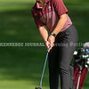 VASSALBORO, ME - OCTOBER 9: <br /> Gorham's Nicole Walker putts on first hole of State Class A golf championship Saturday October 9, 2021 at Natanis Golf Club in Vassalboro. She finished tied for third.  (Staff photo by Joe Phelan/Staff Photographer)