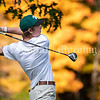 VASSALBORO, ME - OCTOBER 9: 2021 MPA State Class C boys golf championship first place finisher George Fahey, of Waynflete, tees off on 18th hole Saturday October 9, 2021 at Natanis Golf Club in Vassalboro. (Staff photo by Joe Phelan/Staff Photographer)
