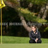 VASSALBORO, ME - OCTOBER 9: <br /> Skowhegan's Riley Fitzpatrick lines up shot on first hole of State Class A<br /> golf championship Saturday October 9, 2021 at Natanis Golf Club in Vassalboro. She finished 12th. (Staff photo by Joe Phelan/Staff Photographer)