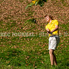 VASSALBORO, ME - OCTOBER 9: <br />  State Class C boys  golf championship third place finisher Wyatt Folsom, from Maranacook, hits out of a ditch Saturday October 9, 2021 at Natanis Golf Club in Vassalboro. (Staff photo by Joe Phelan/Staff Photographer)