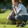VASSALBORO, ME - OCTOBER 9: <br /> Greely's Ruth Weeks lines up shot on first hole of State Class A<br /> golf championship Saturday October 9, 2021 at Natanis Golf Club in Vassalboro. She finished tied for third place. (Staff photo by Joe Phelan/Staff Photographer)