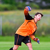 AUGUSTA, ME - SEPTEMBER 3: Waterville goalkeeper Aiden Tavares throws in the ball during a soccer game Friday September 3, 2021 in Augusta. (Staff photo by Joe Phelan/Staff Photographer)