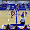 OAKLAND, ME - SEPTEMBER 14: Cony, left, and Messalonskee volleyball teams play wearing masks in front of spectators  Tuesday September 14, 2021 at Messalonskee High School in Oakland. (Staff photo by Joe Phelan/Staff Photographer)