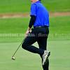 BRUNSWICK, ME - SEPTEMBER 30: Messalonskee's Brandon Bearce reacts to putt during KVAC golf championship Thursday September 30, 2021 at Brunswick Golf Club. (Staff photo by Joe Phelan/Staff Photographer)