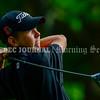 BRUNSWICK, ME - SEPTEMBER 30: Brunswick's Charlie Austin tees off during KVAC golf championship Thursday September 30, 2021 at Brunswick Golf Club. (Staff photo by Joe Phelan/Staff Photographer)