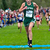 BELFAST, ME - OCTOBER 2: Winthrop's Haley Williams runs 20th Maine XC Festival of Champions Saturday October 2, 2021 at roy Howard Middle School in Belfast. (Staff photo by Joe Phelan/Staff Photographer)