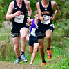 BELFAST, ME - OCTOBER 2: Orono's Kyle McClellan, left, and Brunswick's Eli Palmer run in the 20th Maine XC Festival of Champions Saturday October 2, 2021 at Troy Howard Middle School in Belfast. (Staff photo by Joe Phelan/Staff Photographer)