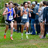 BELFAST, ME - OCTOBER 2: Logan Ross, of Falmouth, left, and Christopher Walton, of Biddeford, run  in 20th Maine XC Festival of Champions Saturday October 2, 2021 at Troy Howard Middle School in Belfast. (Staff photo by Joe Phelan/Staff Photographer)