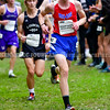 BELFAST, ME - OCTOBER 2: Messalonskee's Tieran Croft runs in the 20th Maine XC Festival of Champions Saturday October 2, 2021 at Troy Howard Middle School in Belfast. (Staff photo by Joe Phelan/Staff Photographer)