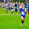 BELFAST, ME - OCTOBER 2: Madison's Peyton's Estes runs 20th Maine XC Festival of Champions Saturday October 2, 2021 at roy Howard Middle School in Belfast. (Staff photo by Joe Phelan/Staff Photographer)