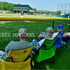 AUGUSTA, ME - AUGUST 6: Augusta fans found a shady spot just past their team's third baseline dugout to comfortably enjoy first game of Junior Legion tournament Friday August 6, 2021 on McGuire Field in Augusta. (Staff photo by Joe Phelan/Staff Photographer)