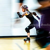 """AUGUSTA, ME - JULY 29: Erica """"Deadly Do Right"""" Guay does wind sprints at the end of Kennebec Valley Roller Derby practice Thursday July 29, 2021 in the gym of the Buker Community Center in Augusta. (Staff photo by Joe Phelan/Staff Photographer)"""