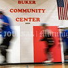 AUGUSTA, ME - JULY 29: Players zoom around the gym in a pack skating drill during Kennebec Valley Roller Derby practice Thursday July 29, 2021 in the Buker Community Center in Augusta. (Staff photo by Joe Phelan/Staff Photographer)