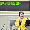 AUGUSTA, ME - SEPTEMBER 7: Sen. Susan Deschambault, D-Biddeford, speaks during the Maine Franco-American Hall of Fame Induction Ceremony Tuesday September 7, 2021 at the Maine State House in Augusta. Sen. Deschambault was added to the Hall of Fame along with Sen. John Martin, D-Eagle Lake. They hadn't found about being included with the ten other inductees till that morning. (Staff photo by Joe Phelan/Staff Photographer)