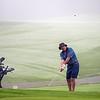 VASSALBORO, ME - AUGUST 24: Doug Self, of Brunswick Country Club, plays in early morning fog during Maine Senior Am golf tournament Tuesday August 24, 2021 at Natanis Golf Course in Vassalboro. (Staff photo by Joe Phelan/Staff Photographer)