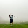 VASSALBORO, ME - AUGUST 24: Michael OÕBrien, of Biddeford-Saco Country Club, plays in early morning fog during Maine Senior Am golf tournament Tuesday August 24, 2021 at Natanis Golf Course in Vassalboro. (Staff photo by Joe Phelan/Staff Photographer)