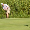 VASSALBORO, ME - AUGUST 24: Mark Plummer putts on 18th green during Maine Senior Am golf tournament Tuesday August 24, 2021 at Natanis Golf Course in Vassalboro. (Staff photo by Joe Phelan/Staff Photographer)
