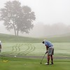 VASSALBORO, ME - AUGUST 24: Keith Patterson, of Biddeford-Saco Country club, putts in early morning fog during Maine Senior Am golf tournament Tuesday August 24, 2021 at Natanis Golf Course in Vassalboro. (Staff photo by Joe Phelan/Staff Photographer)