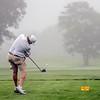 VASSALBORO, ME - AUGUST 24: Mark Plummer, of Augusta Country Club, tees off into the fog Maine Senior Am golf tournament Tuesday August 24, 2021 at Natanis Golf Course in Vassalboro. (Staff photo by Joe Phelan/Staff Photographer)